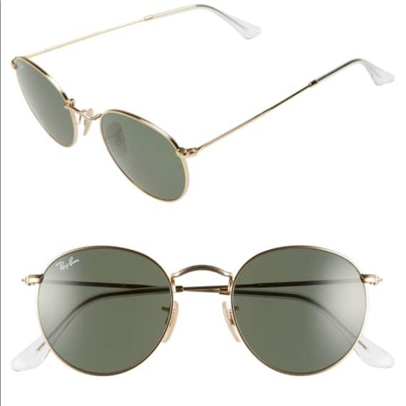 c59beaed5b5a9 New Authentic Ray-Ban Round Metal Gold RB3447